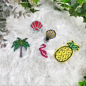 Set of 5 NWT Tropical Iron On Patches Pineapple